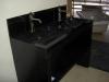 RIC wastafelmeubel, zwart graniet gepolijst  120 x 50 x 90cm