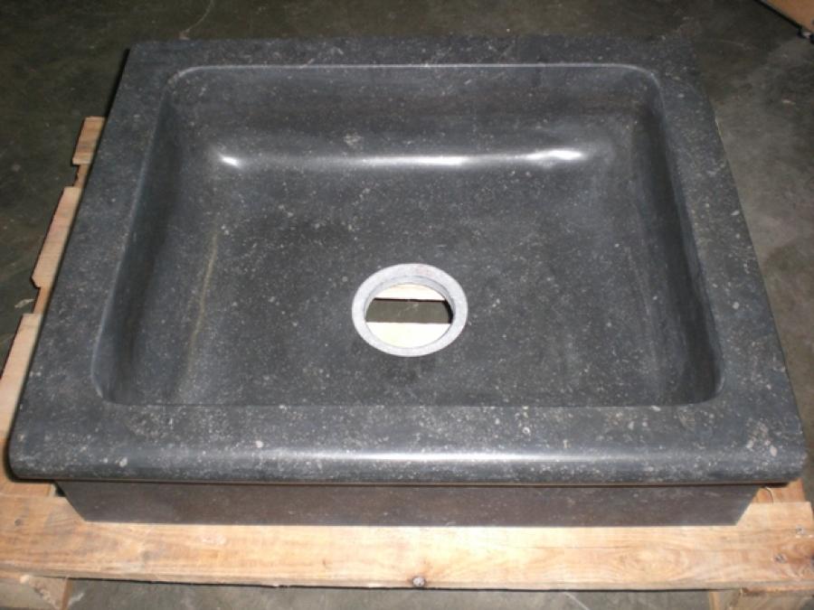 Badkamer wasbak badkamer : Keukenspoelbak belg.hardsteen APR 60 59,5/50/18cm