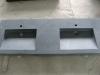 Tanit 2 zwart graniet gezoet 140/50/10cm