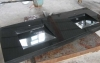Tanit 2 zwart graniet gepolijste wastafel, 200/50/10cm