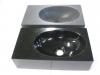 Toiletspoelbakje Jorna zwart Poly en zwart gezoet 40/22/11cm