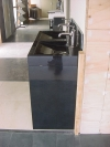RIC wastafelmeubel zwart graniet gepolijst, maatv.120/50/10cm