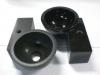 toiletbakje Marn zwart poly en zwart gezoet 35/25/12cm