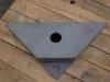 Marc hoekbakje onderzijde zwart graniet