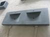 Dubbele SERDON wastafel in zwart graniet gezoet 160/60/10cm