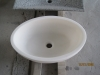 Ovale spoelbak witte Jade gezoet 49/32,5/18cm